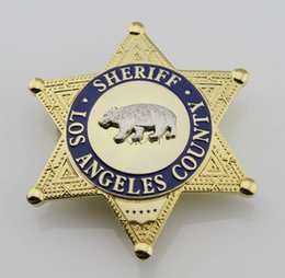 Wholesale Los Angeles County Bureau of LA County Sheriff Security Officer High Quality Badge Bear Sheriff Deputy Badges Styles Retail