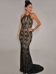 FREE SHIPPING 2015 New Fashion Sexy Ladies Elegant Black Lace Nude Illusion Open Back Maxi Party Dress Prom Gown Vestidos NA6272