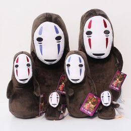 Spirited Away No Face Stuffed Doll Hayao Miyazaki Cartoon Movie Spirited Away Plush Soft Toys 10-33cm Free Shipping