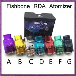 Fishbone RDA Colorful Pyrex Glass Tubes RDA Vaporizer Tank e Cigarette Rebuildable Dripping Atomzier Newest Design Unique Glass RDA