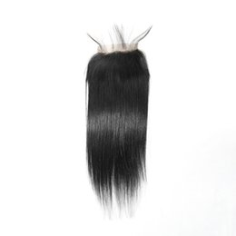 """Wholesale Synthetic Brazilian Weaving Hair - 8""""-16"""" Full Head 5PCS Peruvian Human Hair Lace Closure With Bundles 4PCS+1PC Top Closures Piece 4*4 Silky Straight Weave Bellahair 5A"""