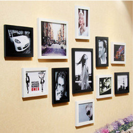 Wooden Photo Frame Wood Wall Mounted Background Study Wooden Bedroom Living Room Free Shipping