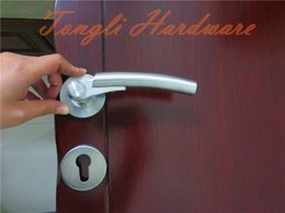 New Silver Modern stainless steel SUS 304 L shape solid lever outside door handle 1 kg per pairs interior door room handle pull