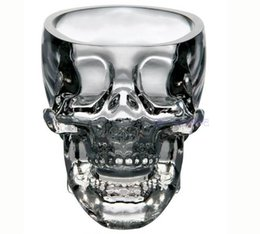 Wholesale 2016 Creative Skull Cup Crystal Skull Cup Home Bar Drinking Ware Crystal Skull Head Vodka Whiskey Shot Glass Cup SKull Mugs