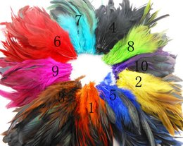 Wholesale Hot sale cm Multi Color Dyed Badger Saddle Rooster feather Hair extension adornment
