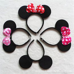 Wholesale mouse ears headband hoop dance festival Children mickey and Minnie mouse ears headband baby headband Christmas birthday party supplies