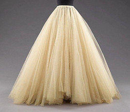 2015 Floor Length Long Skirts Custom Made Free Size Tulle Cheap Skirts Multiple Layers Gauze Women Clothing Hot Selling
