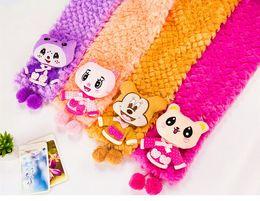 newest Children's kids cartoon animals plush scarf Cute Baby Scarves Christmas Xmas gifts autumn winter warmer ESC00062
