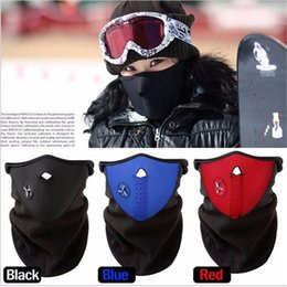 Wholesale-Thermal Neck Skiing Warmers Hat Headgear Winter Ear Windproof Face Mask Motorcycle Bicycle Scarf