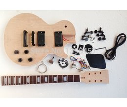Wholesale 2015 hot new musical instruments custom with edge LP electric guitar semi finished Maple plywood veneer