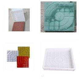 Wholesale DIY Square Garden Path Concrete Plastic Brick Mold Paving Propylene ABS Pavement Walkway x27x4cm Garden Buildings Accessories