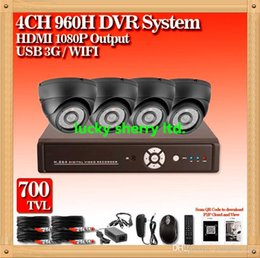 CIA- Home security camera system 4CH HDMI 1080p DVR Night Vision IR 700TVL Camera HD CCTV Security Cameras System QR