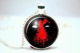 Wholesale 10pcs Dead Pool Necklace DeadPool Pendant Glass Photo Cabochon Necklace
