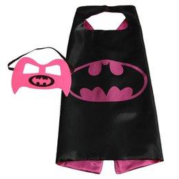 Wholesale Superhero Capes with masks Batman Spiderman Teenage Mutant Ninja Turtle Flash Supergirl Batgirl Robin kids capes with mask in stock
