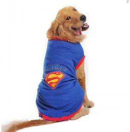 Купить Онлайн Большие костюмы для собак-Большие одежды для собак Супермен Дизайн Большие костюмы для косплея для собак Толстые рубашки для вечеринок для вечеринок фестиваля Поставки SZ 20-30 КРАСНЫЙ ГОЛУБОЙ