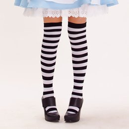 Wholesale Christmas thigh stripes stockings maid outfit barreled knee socks anime Cosplay Alice costume Socks accessories