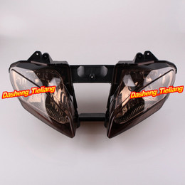 Wholesale Motorcycle Front Headlight Lighting for Yamaha YZF R6 Aftermarket Parts Replacements Brown order lt no track