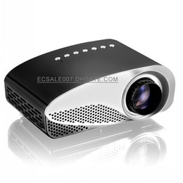 GP8S LED Projector LCD Mini Projector 120 Lumen portable multimedia cinema HDMI VGA USB TV Video Movie proyector home theater