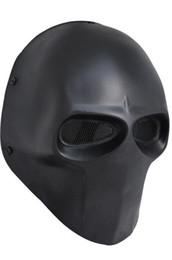 Wholesale dance mask Full Face Wire Mesh Army of Two Fibreglass quot BASIC quot Paintball Mask quot TB636