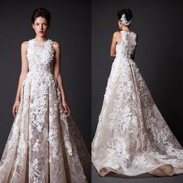 2017 Modern Dynamic Long Court Train Organza Lace Evening Dresses Krikor Jabotian High Neck A-line Formal Dresses Celebrity Evening Dress