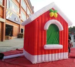 Wholesale 2014 hot selling m L m W m H Inflatable Christmas house inflatable christmas decoration with w air blower