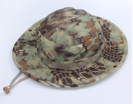 Wholesale Tactical Mandrake Boonie Kryptek Pattern US Army Military Rip stop Caps Hats for Camping Hiking Hunting Rattlesnake Combat Airsoft Fishing
