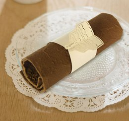 Wholesale Birthday party paper napkin ring towel holder hot sale plain wedding napkin rings buy manufacturer