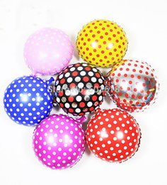 18' 10pcs Lot Cute Aluminum Foil Balloon Polka Dot Balloon Birthday Party Wedding Holiday Decorating