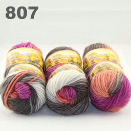 6balls Australia colorful hand-knitted wool score yarn segment dyed coarse yarn fancy knitting baby hats scarves thick line807-6