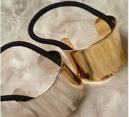 Descuento anillo de metal espejo Mayor-Libre Envío estilos mínima de la mezcla $ 5 Cuff Wrap Pony Chic Pasarela Hair Band cola del sostenedor del metal Anillo Espejo Lazo Stretch JW17