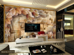 Free shipping 3d three-dimensional large murals tv background wall fashion paper walls wallpaper