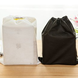 Non-woven shoe F06-3-13 travel drawstring pouch beam port travel pouch essential shoe