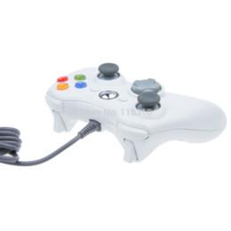 Blanco xbox palanca de mando en venta-Nuevo USB cableado juego controlador joypad Joypad de Gamepad para Xbox 360 Slim ordenador portátil PC Windows 7 Blanco negro para seleccionar