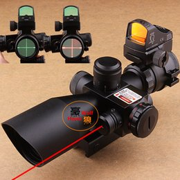 Wholesale DHL X40 Illuminated Tactical Riflescope with Red Laser Docter III Optics Red Dot Sight Scope Hunting Scope