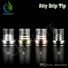 Tobh Atty Drip Tip Wide Bore Pyrex GlassSS drip tip for 22mmTobh Atty RDA RBA Atty plume veil Atomizers 510