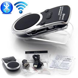 Car kit Bluetooth two-link Solar Powered Speaker Hands Free Car Kit Wireless MP3 Music transmissor Bluetooth main Manos Libres