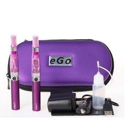 Wholesale Ego t double starter electronic cigarette Ego CE4 starter Kit ecig e cig battery electronic Cigarette ce4 ego t vaporizer pen zipple case
