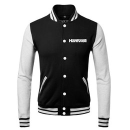 Wholesale Heavy Metal HARDWELL ON AIR BAND SPRING FALL WINTER Classic Jacket lover s Sweatshirt baseball uniform for MAN AND WOMAN