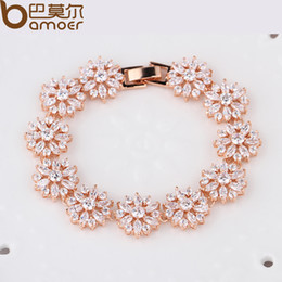 Wholesale jewelry affordable BAMOER HOT Bracelet amp Bangle for Women Prong Setting Zircon Chain Bracelet Jewelry Gift for Female JIB007