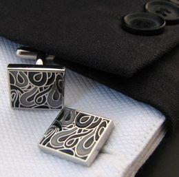 Wholesale Gray Enamel Paint Cufflinks High Quality Branded Mens Shirt Studs Wedding Best Man Gift cf622