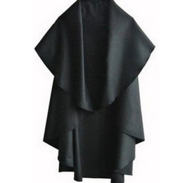 Wholesale-2015 New Womens Cape Black Batwing Wool Poncho Jacket Lady Winter Autumn Warm Cloak Coat E3215E