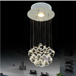 Wholesale Elegant Beaded Crystal And Chorme Chandelier Crystal Ball Fixture Pendant Ceiling Lamp Rain Drop Lighting Lamp order lt no track