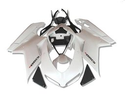 Body Injection Fairings for Ducati 1098 848 1198 2007-2011 1098  848 1198 07 08 09 10 11 ABS Plastic Motorcycle Parts White