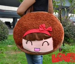 Wholesale Cartoon Soft shoulder big bag cute moss girl female bag student bag