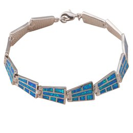 Wholesale-Vintage style Bracelets Wholesale & Retail Special Blue fire opal 925 silver fashion jewelry party gifts OB027A