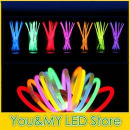 "Edison2011 195mm 8"" Multi Colors Hot Night Glow Stick Led Color Flashing Bracelet Lighting Flash Sticks Festival Items"