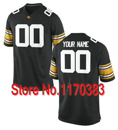 Wholesale Factory Outlet New Style Men Personalized Iowa Hawkeyes Jersey Custom NCAA College Football Jersey Black White Color
