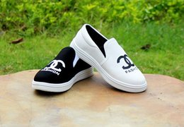 Wholesale 15 off retail new white black color year old Unisex casual shoes Canvas shoes children sneakers xmas gift BD drop shipping