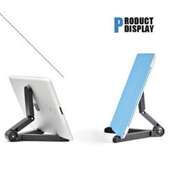 Wholesale Portable Adjustable Tablet Fold up Stand Holder Multifunctional Plastic Bracket for Apple iPad Galaxy Tab Kindle Fire Tablet PC Mounts