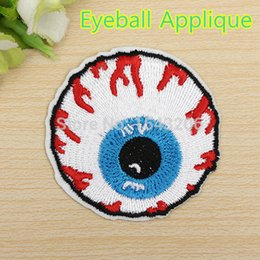 Wholesale 5 CM Eyeball Eye Embroidered Iron On Applique Motif Badge Patch Embroidery DIY Accessory Sewing Supplies small order no tracking
